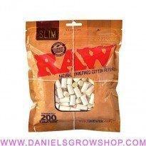 Raw Filters Slim 6mm, 200 x bolsa